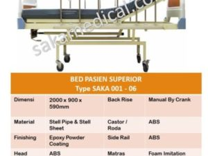 Bed Pasien 1 Crank Superior