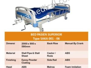 bed pasien 2 crank superior